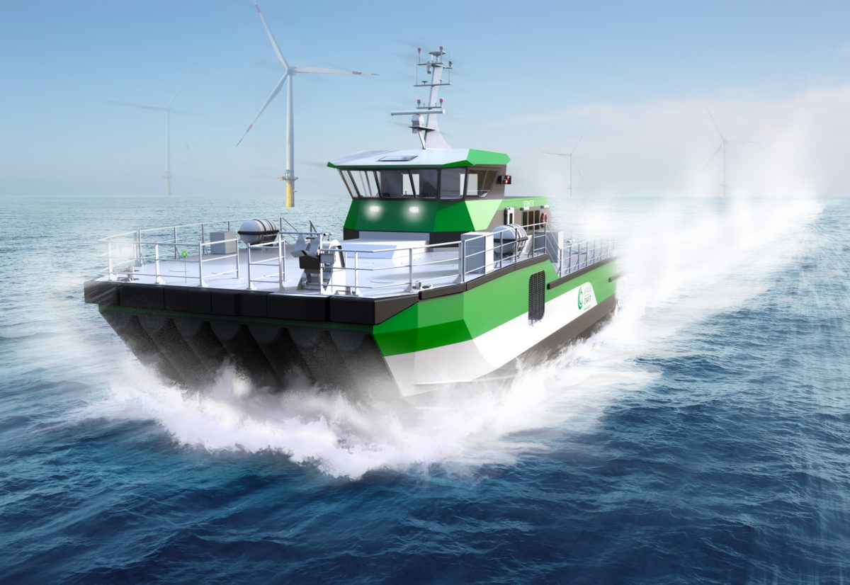 WAVECRAFT Sprinter series fast crew transfer vessels for offshore wind farms.