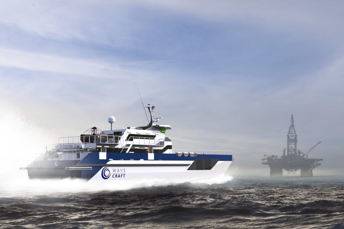 WAVECRAFT Voyager 38 fast crew transfer vessel for offshore O&G sector.