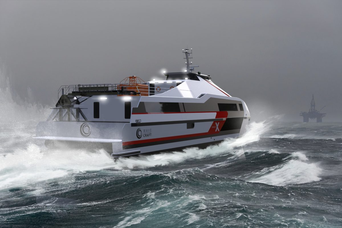 WAVECRAFT Voyager 38 X for fast offshore crew transfer.