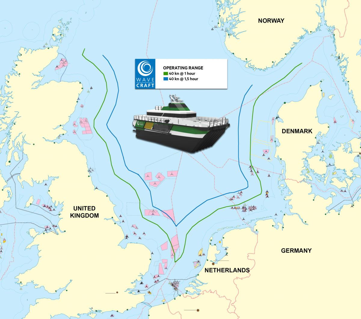 Operating range of WAVECRAFT ™ vessels exceeds industry norm.
